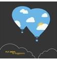 hot air balloon colorful abstract vector image vector image