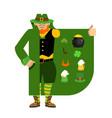 leprechaun smuggler selling shamrock and holiday vector image vector image