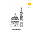 madina mosque monument world travel natural vector image vector image