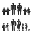 Man woman boy and girl icons vector image
