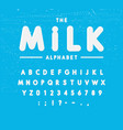 milk alphabet set yoghurt or cream font vector image
