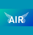 modern professional word air typography with vector image vector image