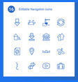navigation icons vector image vector image