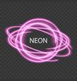neon light transparent glow light effect vector image