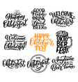 oktoberfest beer festival lettering calligraphy vector image vector image