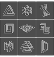 Optical shapes elements vector image vector image