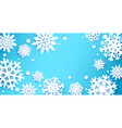 paper cut snowflakes background winter holiday vector image