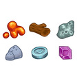 Resources For Games Icons Set vector image