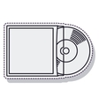 retro music vinyl isolated icon vector image vector image