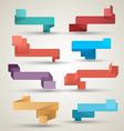 Ribbons collection origami modern style vector image vector image