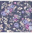 rose seamless pattern gray vector image vector image