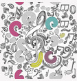 seamless wallpaper pattern with doodle music vector image