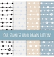Set of four abstract seamless ink patterns vector image vector image