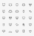 Set of Minimalistic Animal Line Icons vector image vector image