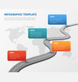 strategy chronological road map business vector image vector image