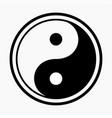 symbol yin yang vector image vector image