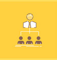 team teamwork organization group company flat vector image