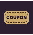 The coupon icon Discount and gift offer symbol vector image vector image