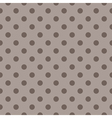 Tile pattern brown polka dots on dark background vector image vector image