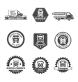 Truck Label Set vector image vector image