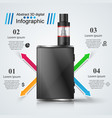 vape vaper smoke - business infographic vector image vector image