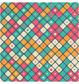 vintage small colorful square pattern background v vector image