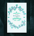 Watercolor card template vector image vector image