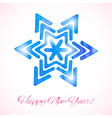 Card with watercolor snowflake vector image