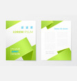 green annual report business brochure booklet vector image