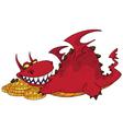 big dragon with money vector image