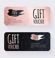 Gift voucher template with rose gold gift vector image