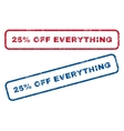25 Percent Off Everything Rubber Stamps vector image vector image