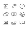 9 chat thin line icon vector image
