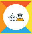 airport worker icon colored line symbol premium vector image
