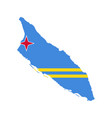 aruba flag and map vector image vector image
