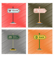 assembly flat shading style icons sign of bar post vector image vector image