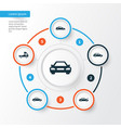 auto icons set collection of van automobile vector image