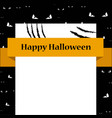 bank sign card with scratches halloween template vector image