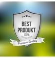 Best product shield isolated on blurred background vector image vector image