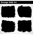 Black grunge background vector image vector image