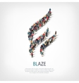 blaze people sign 3d vector image