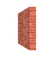 brick wall perspective isolated on white vector image