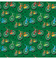 bright bicycle pattern vector image
