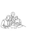 business men team working together at new startup vector image vector image