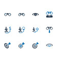 business vision icons vector image vector image