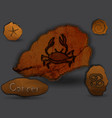 cancerzodiac in the form of cave painting vector image vector image