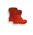 cartoon brown rubber boots isolated vector image vector image