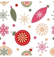 Christmas decorations on white vector image vector image