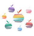 colored fruit logo apple symbol on white vector image