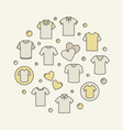 colored t-shirt round creative vector image